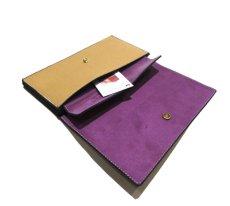 """画像7: """"JUTTA NEUMANN"""" Leather Wallet """"the Waiter's Wallet""""  color : Camel Shine / Lavender 長財布 (7)"""