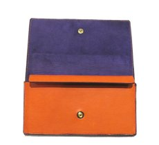 """画像5: """"JUTTA NEUMANN"""" Leather Wallet """"the Waiter's Wallet""""  color : Orange / Purple 長財布 (5)"""