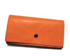 """画像2: """"JUTTA NEUMANN"""" Leather Wallet """"the Waiter's Wallet""""  color : Orange / Purple 長財布 (2)"""