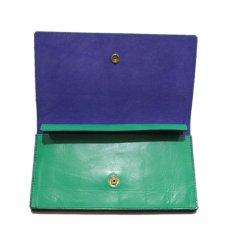 """画像5: """"JUTTA NEUMANN"""" Leather Wallet """"the Waiter's Wallet""""  color : Kelly Green / Violet 長財布 (5)"""