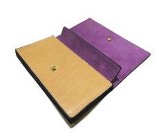 """画像6: """"JUTTA NEUMANN"""" Leather Wallet """"the Waiter's Wallet""""  color : Camel Shine / Lavender 長財布 (6)"""
