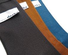 """画像6: decka quality socks """"PLAIN MERCERIZATION SOCKS"""" made in JAPAN ONE SIZE color : BLACK (6)"""