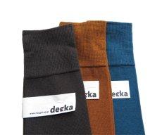 """画像5: decka quality socks """"PLAIN MERCERIZATION SOCKS"""" made in JAPAN ONE SIZE color : BLACK (5)"""