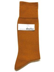 """画像1: decka quality socks """"PLAIN MERCERIZATION SOCKS"""" made in JAPAN ONE SIZE color : GOLD (1)"""