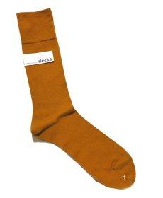 """画像3: decka quality socks """"PLAIN MERCERIZATION SOCKS"""" made in JAPAN ONE SIZE color : GOLD (3)"""