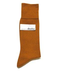 """画像2: decka quality socks """"PLAIN MERCERIZATION SOCKS"""" made in JAPAN ONE SIZE color : GOLD (2)"""