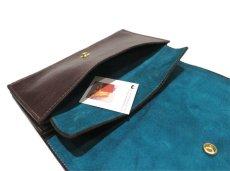 """画像8: """"JUTTA NEUMANN"""" Leather Wallet """"the Waiter's Wallet""""  color : Brown / Turquoise 長財布 (8)"""