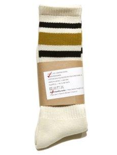 """画像1: decka quality socks """"SKATER SOCKS"""" made in JAPAN ONE SIZE color : Yellow (1)"""