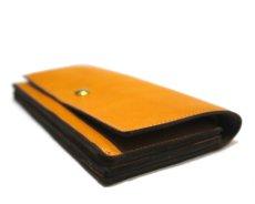 """画像4: """"JUTTA NEUMANN"""" Leather Wallet """"the Waiter's Wallet""""  color : Mustard / Grey 長財布 (4)"""