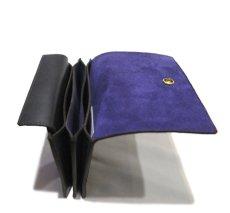 """画像6: """"JUTTA NEUMANN"""" Leather Wallet """"the Waiter's Wallet"""" Medium Size color : Black / Purple (6)"""