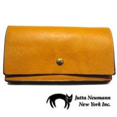 """画像1: """"JUTTA NEUMANN"""" Leather Wallet """"the Waiter's Wallet""""  color : Mustard / Grey 長財布 (1)"""