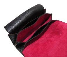 """画像7: """"JUTTA NEUMANN"""" Leather Wallet """"the Waiter's Wallet""""  color : Black / Magenta 長財布 (7)"""