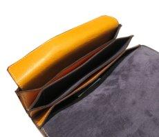"""画像7: """"JUTTA NEUMANN"""" Leather Wallet """"the Waiter's Wallet""""  color : Mustard / Grey 長財布 (7)"""