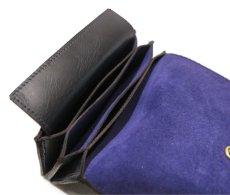 """画像7: """"JUTTA NEUMANN"""" Leather Wallet """"the Waiter's Wallet"""" Medium Size color : Black / Purple (7)"""