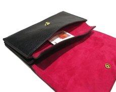 """画像8: """"JUTTA NEUMANN"""" Leather Wallet """"the Waiter's Wallet""""  color : Black / Magenta 長財布 (8)"""