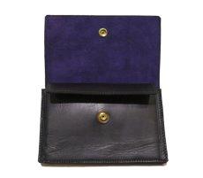 """画像5: """"JUTTA NEUMANN"""" Leather Wallet """"the Waiter's Wallet"""" Medium Size color : Black / Purple (5)"""