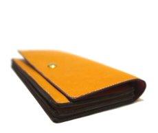 """画像4: """"JUTTA NEUMANN"""" Leather Wallet """"the Waiter's Wallet""""  color : Mustard / Magenta 長財布 (4)"""