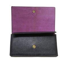"""画像5: """"JUTTA NEUMANN"""" Leather Wallet """"the Waiter's Wallet""""  color : Black / Lavender 長財布 (5)"""