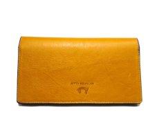 """画像3: """"JUTTA NEUMANN"""" Leather Wallet """"the Waiter's Wallet""""  color : Mustard / Magenta 長財布 (3)"""