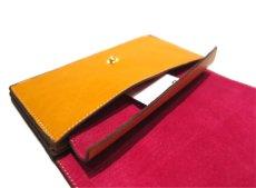 """画像8: """"JUTTA NEUMANN"""" Leather Wallet """"the Waiter's Wallet""""  color : Mustard / Magenta 長財布 (8)"""