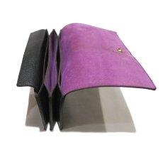 """画像6: """"JUTTA NEUMANN"""" Leather Wallet """"the Waiter's Wallet""""  color : Black / Lavender 長財布 (6)"""