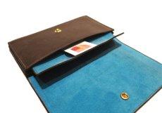 """画像8: """"JUTTA NEUMANN"""" Leather Wallet """"the Waiter's Wallet""""  color : Brown / Light Blue 長財布 (8)"""