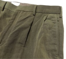 "画像5: Riprap ""TWO TUCK SLACKS"" color : OLIVE size : LARGE-R (5)"