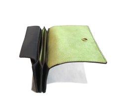 """画像6: """"JUTTA NEUMANN"""" Leather Wallet """"the Waiter's Wallet"""" Medium Size color : Black / Lime Green (6)"""