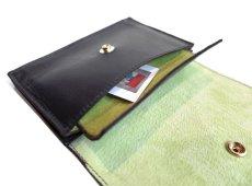 """画像8: """"JUTTA NEUMANN"""" Leather Wallet """"the Waiter's Wallet"""" Medium Size color : Black / Lime Green (8)"""