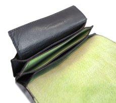 """画像7: """"JUTTA NEUMANN"""" Leather Wallet """"the Waiter's Wallet"""" Medium Size color : Black / Lime Green (7)"""