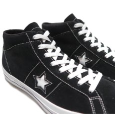 "画像5: NEW CONVERSE ""ONE STAR MID"" Suede Skate Shoes BLACK size US 11 (5)"