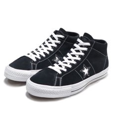 "画像1: NEW CONVERSE ""ONE STAR MID"" Suede Skate Shoes BLACK size US 11 (1)"