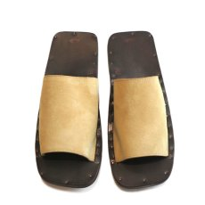 "画像8: JUTTA NEUMANN ""SAM"" Suede Leather Sandal CAMEL size 7 D, 8 D, 9 D, 10 D (8)"