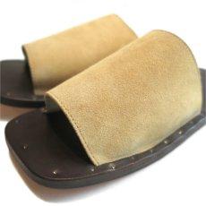 "画像7: JUTTA NEUMANN ""SAM"" Suede Leather Sandal CAMEL size 7 D, 8 D, 9 D, 10 D (7)"