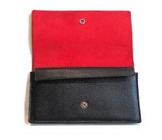 """画像5: """"JUTTA NEUMANN"""" Leather Wallet """"the Waiter's Wallet""""  color : Black / Deep Red 長財布 (5)"""