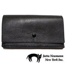"""画像1: """"JUTTA NEUMANN"""" Leather Wallet """"the Waiter's Wallet""""  color : Black / Baby Blue 長財布 (1)"""