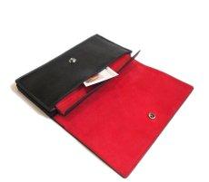 """画像6: """"JUTTA NEUMANN"""" Leather Wallet """"the Waiter's Wallet""""  color : Black / Deep Red 長財布 (6)"""