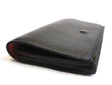 """画像4: """"JUTTA NEUMANN"""" Leather Wallet """"the Waiter's Wallet""""  color : Black / Deep Red 長財布 (4)"""