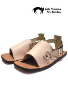 "画像1: JUTTA NEUMANN ""JEFF"" Leather Sandal NATURAL size 9 D (1)"