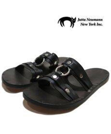 "画像1: JUTTA NEUMANN ""MICHAEL"" Leather Sandal BLACK size 7 D (1)"