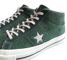 """画像6: NEW Converse """"ONE STAR"""" MID Suede Sneaker GREEN size 10 (6)"""