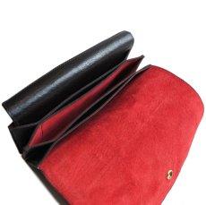 """画像7: """"JUTTA NEUMANN"""" Leather Wallet """"the Waiter's Wallet""""  color : Black / Orange 長財布 (7)"""