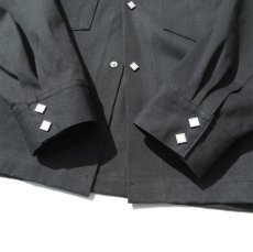 """画像7: Riprap """"Long Point Short Length Western Shirts"""" the poem exclusive color : TYPE BLACK (7)"""