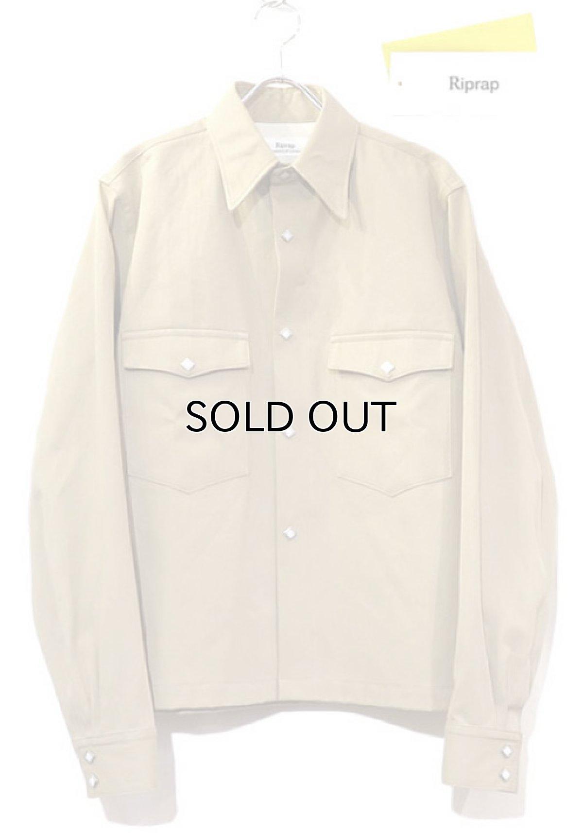 """画像1: Riprap """"Long Point Short Length Western Shirts"""" color :KHAKI (1)"""