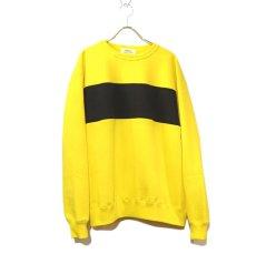 """画像2: Riprap """"Super Soft Loopwheel Switching Crew Sweat Shirts """"  color : LEMON/BLACK (2)"""
