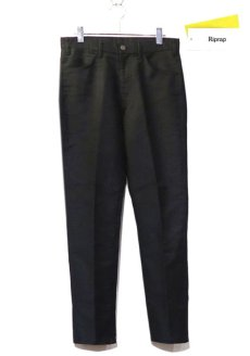 "画像1: Riprap ""Deck Pique 5-Pockets Pants"" color : BLACK (1)"