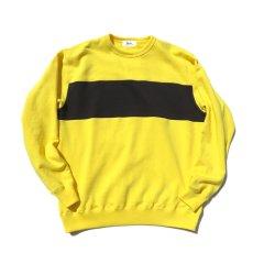 """画像3: Riprap """"Super Soft Loopwheel Switching Crew Sweat Shirts """"  color : LEMON/BLACK (3)"""