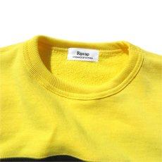 """画像6: Riprap """"Super Soft Loopwheel Switching Crew Sweat Shirts """"  color : LEMON/BLACK (6)"""