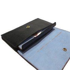 """画像8: """"JUTTA NEUMANN"""" Leather Wallet """"the Waiter's Wallet""""  color : Black / Baby Blue 長財布 (8)"""