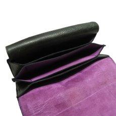 """画像7: """"JUTTA NEUMANN"""" Leather Wallet """"the Waiter's Wallet""""  color : Green / Lavender 長財布 (7)"""